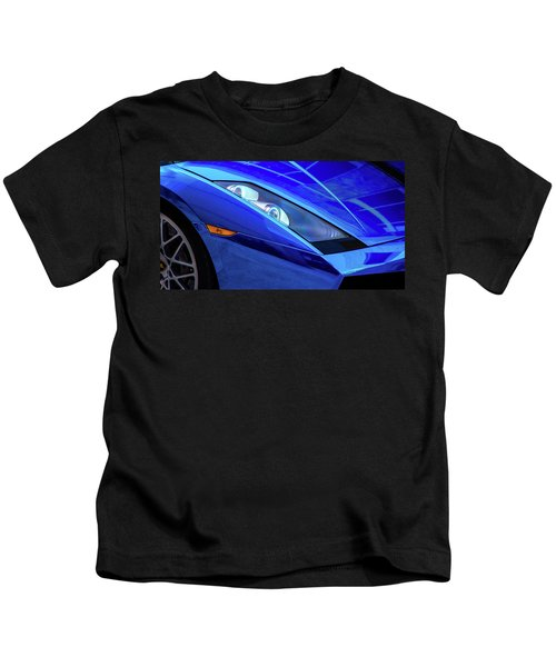 Blue Lamboghini Kids T-Shirt
