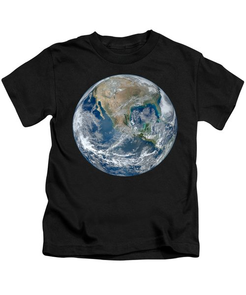 Blue Marble 2012 Planet Earth Kids T-Shirt by Nikki Marie Smith