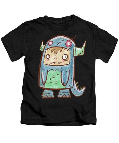 Blue Monster Boy #2 Kids T-Shirt