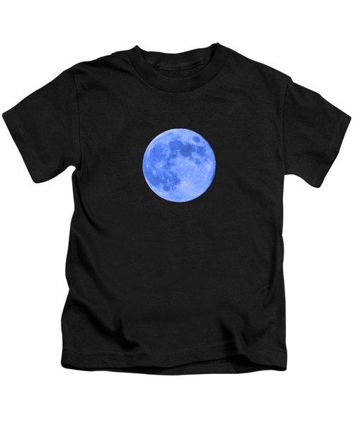 Blue Moon .png Kids T-Shirt