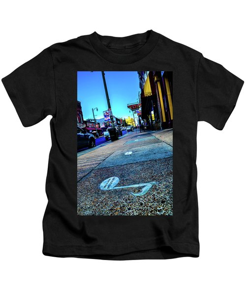 Blue Notes On Beale Kids T-Shirt