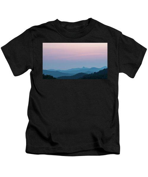 Blue Ridge Mountains After Sunset Kids T-Shirt