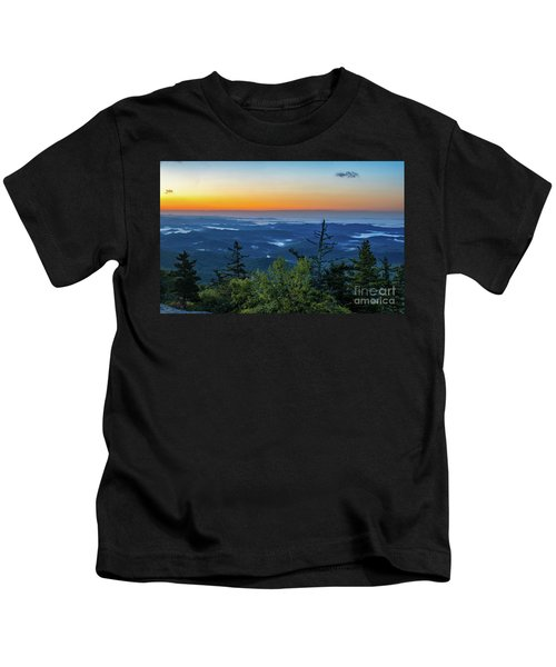 Blue Ridge Mountains Sunrise Kids T-Shirt