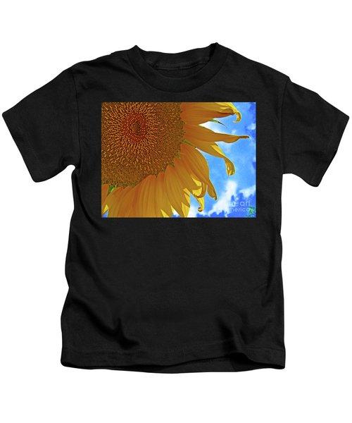Blue Sky Sunflower Kids T-Shirt