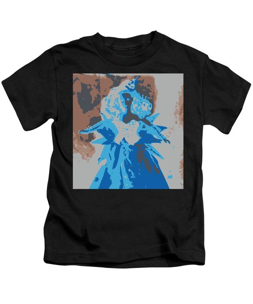 Blue Sunflower Barbie Kids T-Shirt