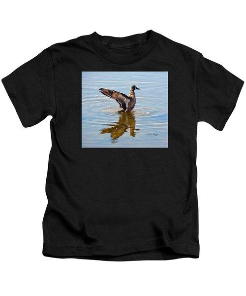 Blue Winged Teal 3 Kids T-Shirt