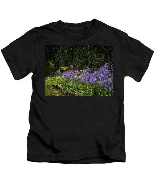 Kids T-Shirt featuring the photograph Bluebells In Kilrush Town by James Truett