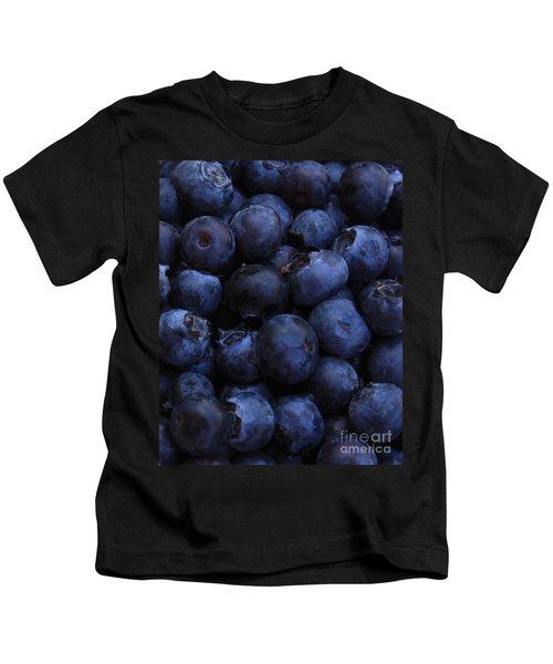 Blueberries Close-up - Vertical Kids T-Shirt by Carol Groenen