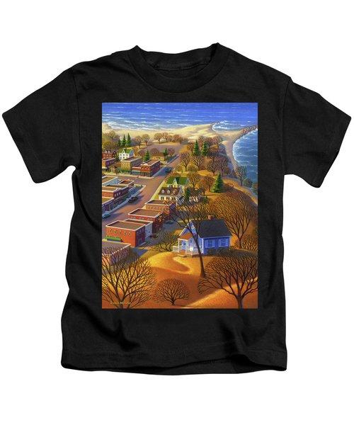 Blueberry Cottage Hill  Kids T-Shirt