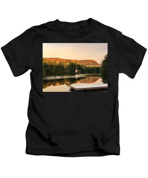 Boardwalk Sunset Kids T-Shirt