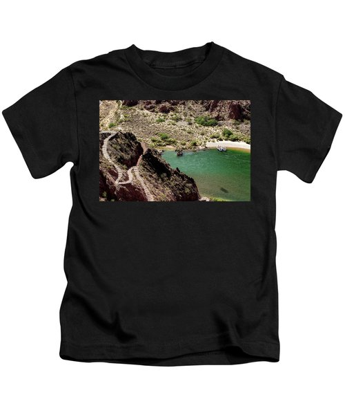 Boat Beach On The Colorado River Kids T-Shirt