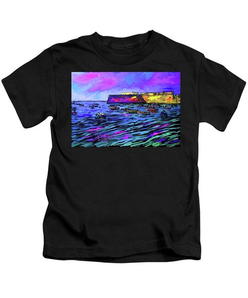 Boats In Cadiz, Spain Kids T-Shirt