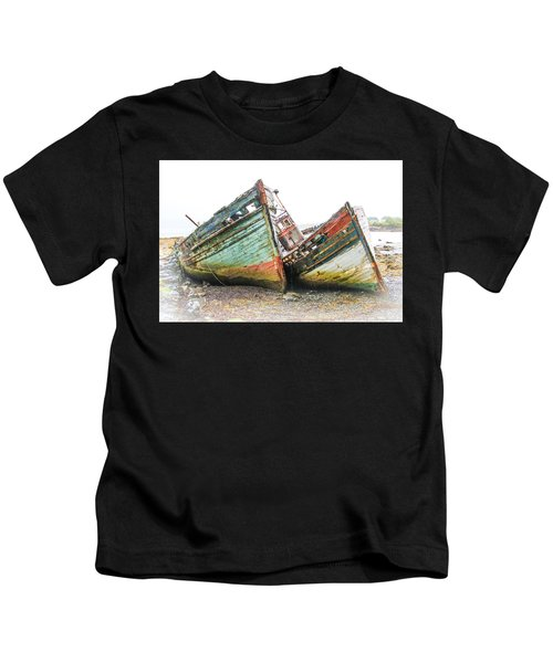 Boats Isle Of Mull 4 Kids T-Shirt