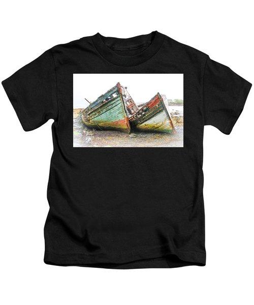 Boats Isle Of Mull 4 Kids T-Shirt