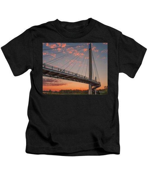 Bob Kerry Bridge At Sunrise-4 Kids T-Shirt