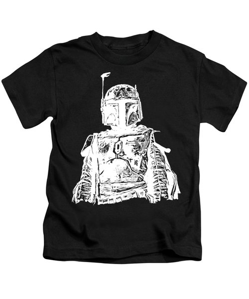 Kids T-Shirt featuring the digital art Boba Fett Tee by Edward Fielding