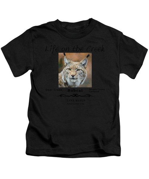 Bobcat - Lynx Rufus Kids T-Shirt