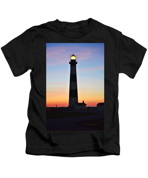 Bodie Lighthouse At Sunrise Kids T-Shirt