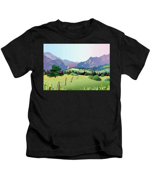 Bolder Boulder Poster 2009 Kids T-Shirt