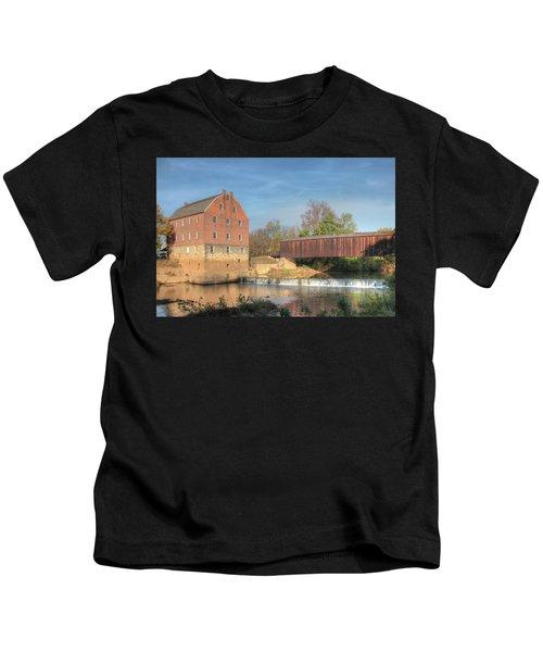 Bollinger Mill And Burfordville Covered Bridge Kids T-Shirt