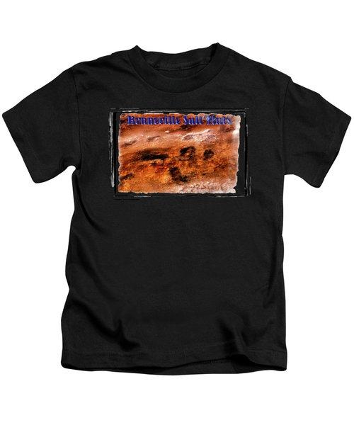 Bonneville Salt Flats Detail No. 01 Kids T-Shirt