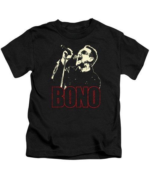 Bono Tour 2016 Kids T-Shirt by Gandi Rismawan