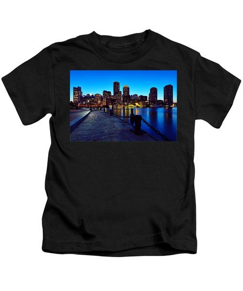 Boston Harbor Walk Kids T-Shirt