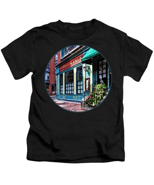 Boston Ma - North End Restaurant Kids T-Shirt