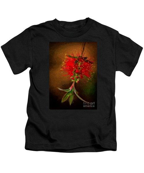 Bottle Brush Flower Kids T-Shirt