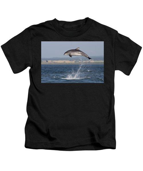 High Jump - Bottlenose Dolphin  - Scotland #42 Kids T-Shirt