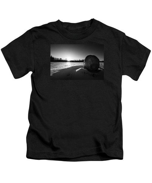 Boulder At Sunset Kids T-Shirt