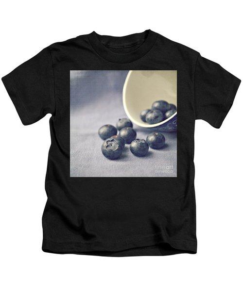 Bowl Of Blueberries Kids T-Shirt