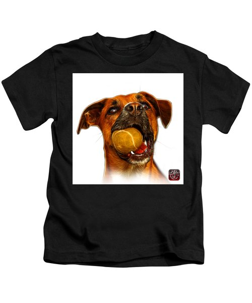 Boxer Mix Dog Art - 8173 - Wb Kids T-Shirt