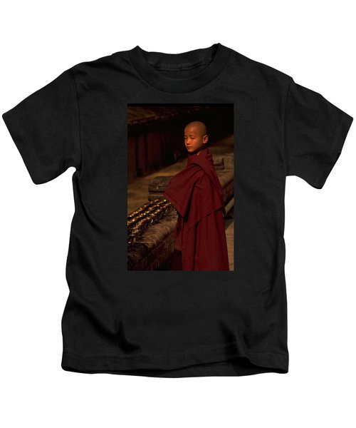 Boy Buddhist In Bodh Gaya Kids T-Shirt