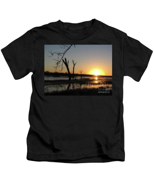 Brazos Bend State Park Sunset Kids T-Shirt