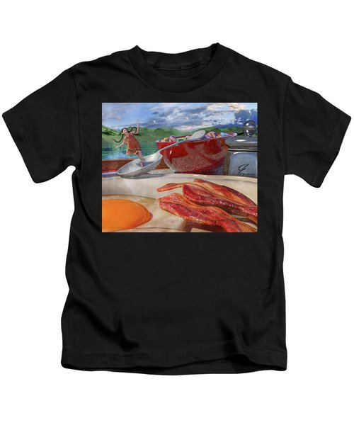 Breakfast Beeline To Bacon Kids T-Shirt