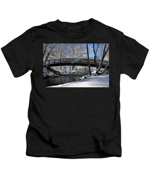 Bridge In Winter Kids T-Shirt