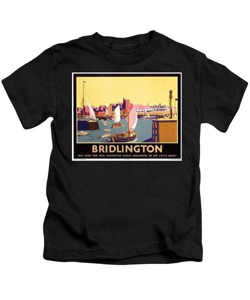 Bridlington Port, Yorkshire,great Britain, Travel Poster  Kids T-Shirt