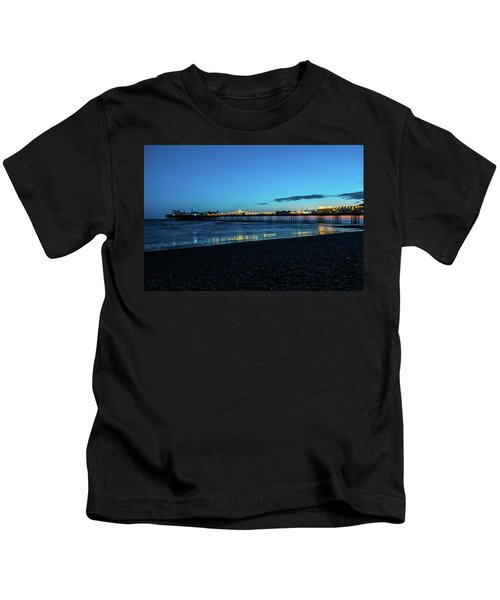 Brighton Pier At Sunset Ix Kids T-Shirt