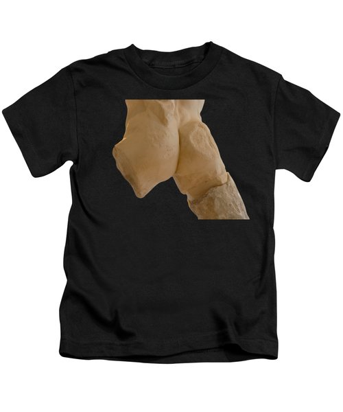 Broken Naked Greek Male Statue From Back Kids T-Shirt