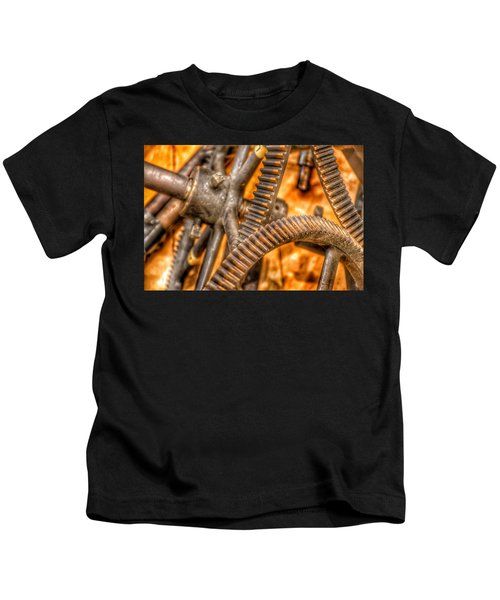 Bromo Seltzer Tower's 1911 Seth Thomas Clock Mechanism Abstract #6 Kids T-Shirt