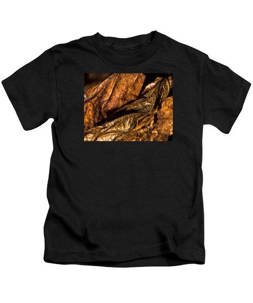 Bronze Leaves Kids T-Shirt