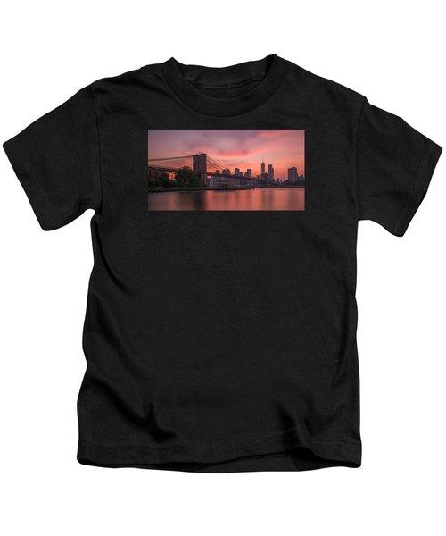 Brooklyn Bridge Sunset Kids T-Shirt