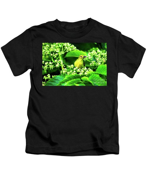 Brown Neck Sunbird Kids T-Shirt