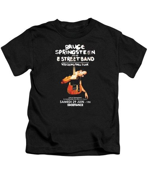 Bruce Springsteen Tour 2016 Kids T-Shirt by Gandi Rismawan