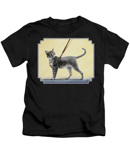 Brushing The Cat - No. 2 Kids T-Shirt