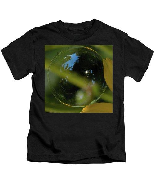 Bubble In The Garden Kids T-Shirt