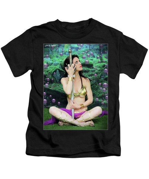 Bubbles And Sword Kids T-Shirt