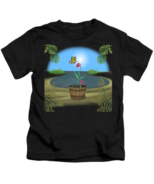 Bucket Butterfly Kids T-Shirt