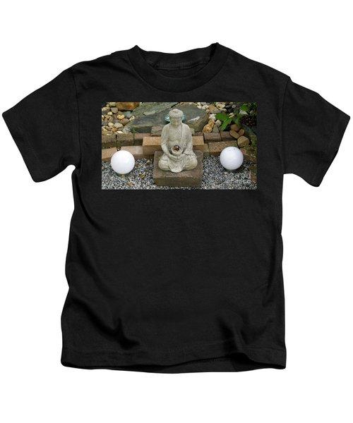 Buddha In The Garden Kids T-Shirt